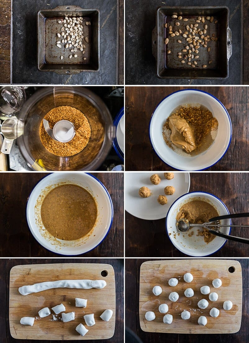 Tang Yuan (Sweet Rice Balls with Peanut Butter Fillings) Cooking Process