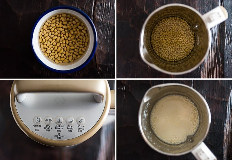 Homemade Soy Milk Cooking Process