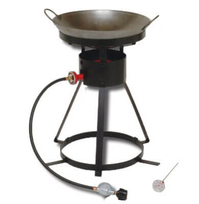 24-Inch Portable Propane Outdoor Cooker with 18-Inch Steel Wok