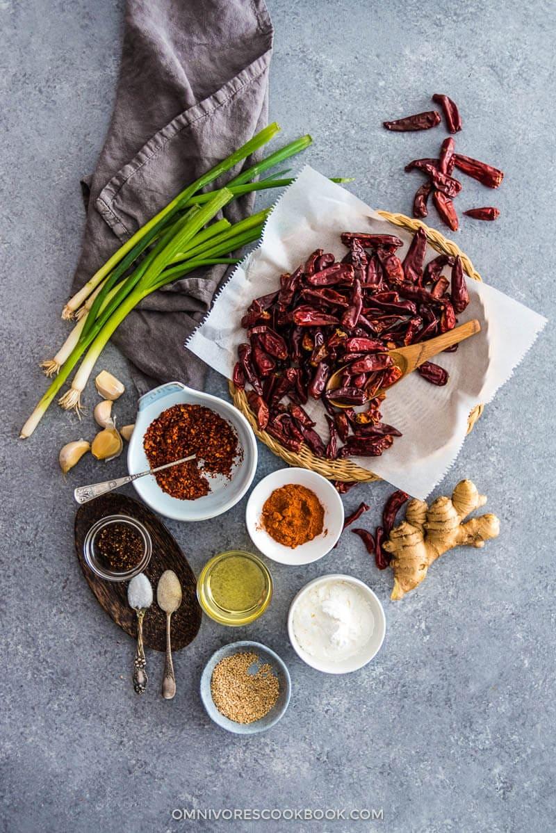 Addictive Sichuan Mala Chicken (辣子鸡, La Zi Ji) Ingredients