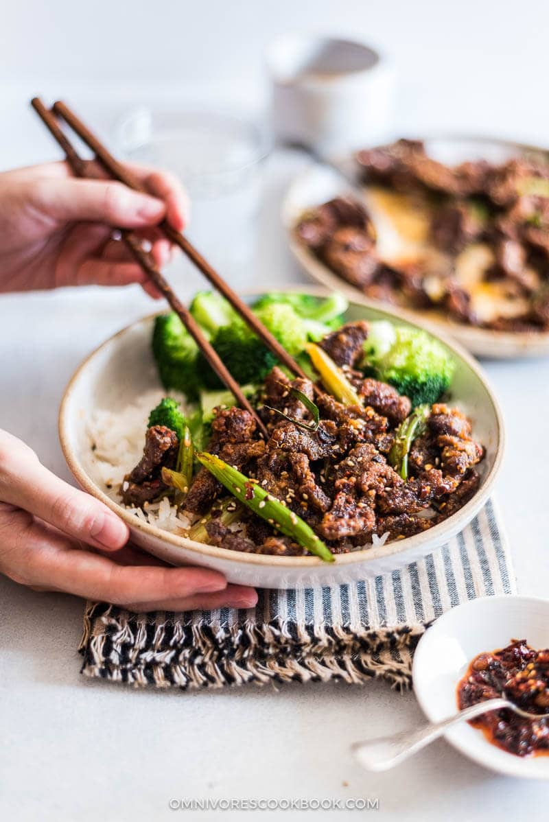 Crunchy, crispy beef tossed in a super umami hot sauce. A must try if you love Sichuan food. | Chinese Food | Stir Fry | Spicy |