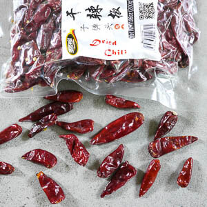 Sichuan Dried Chili Peppers - Bullet Heads