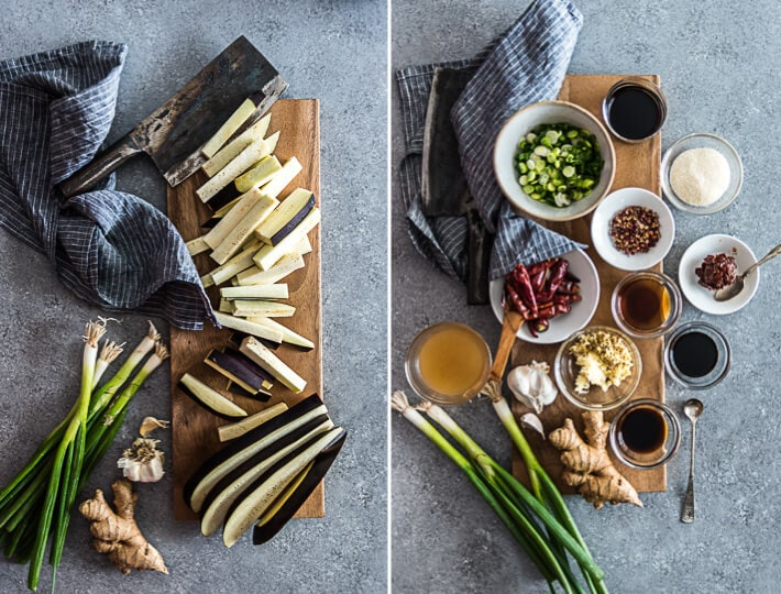 Sichuan Eggplant Stir Fry Cooking Process