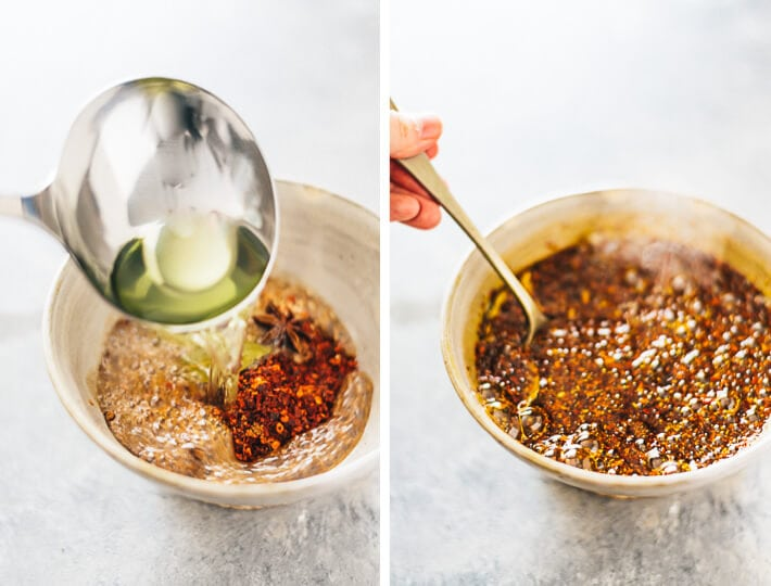 Homemade Chili Oil Cooking Process