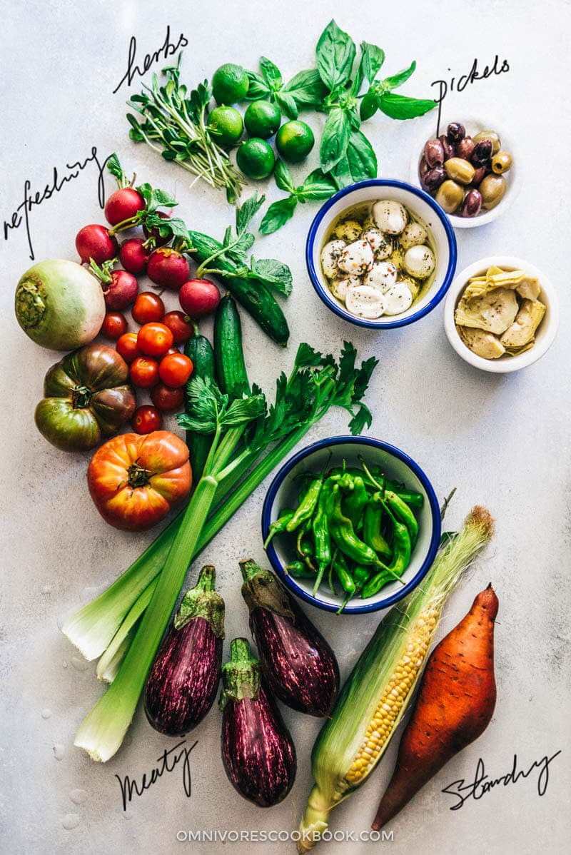 The Ultimate Crudité (Vegetable) Platter Guide | Vegetable Platter | Display | Ideas | Party | Dip | Raw | Grilled | Roasted | Vegetables | Gluten Free
