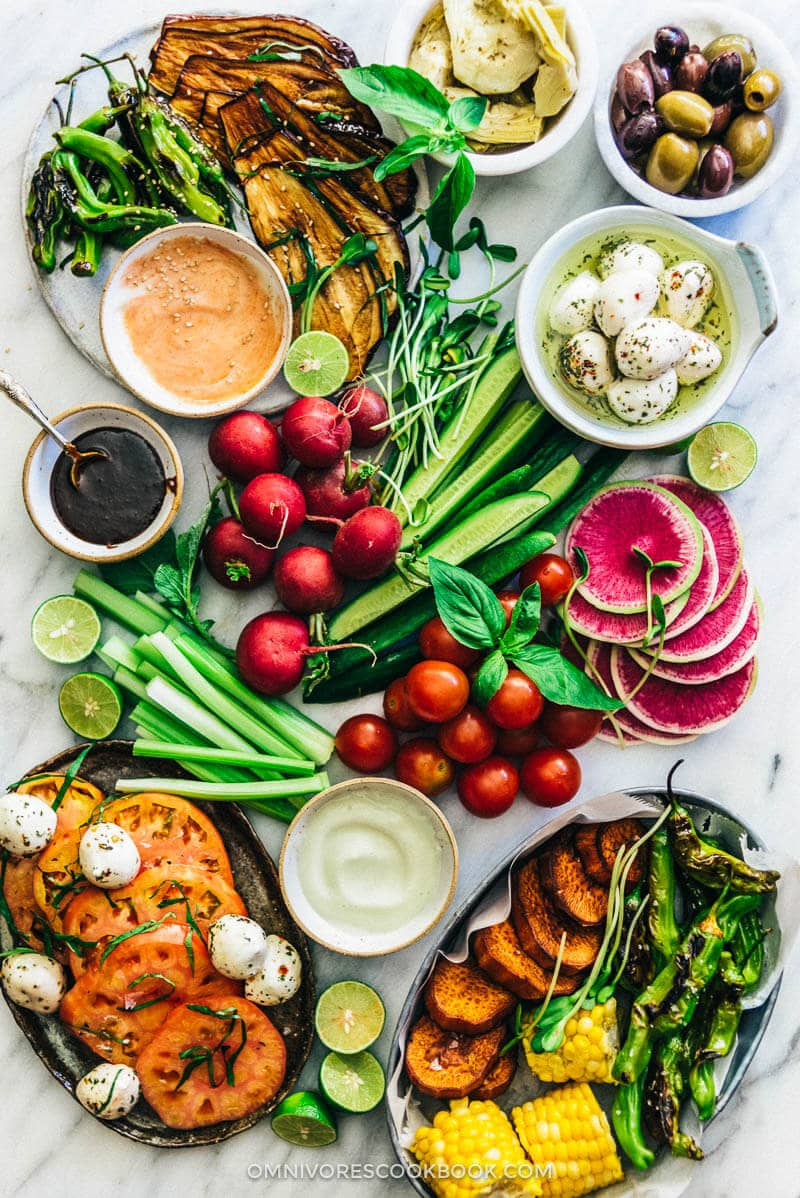 The Ultimate Crudité Platter Guide | Vegetable Platter | Display | Ideas | Party | Dip | Raw | Grilled | Roasted | Vegetables | Gluten Free