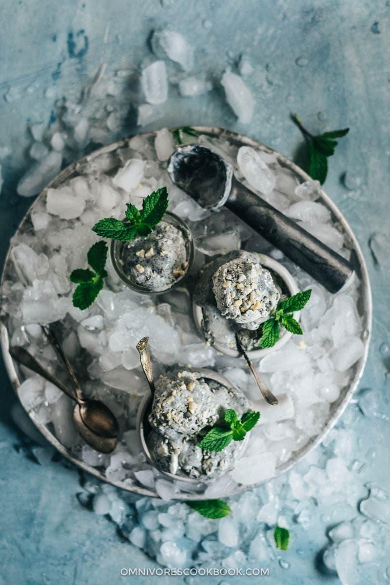 4-Ingredient No-Churn Black Sesame Ice Cream | Omnivore's ...