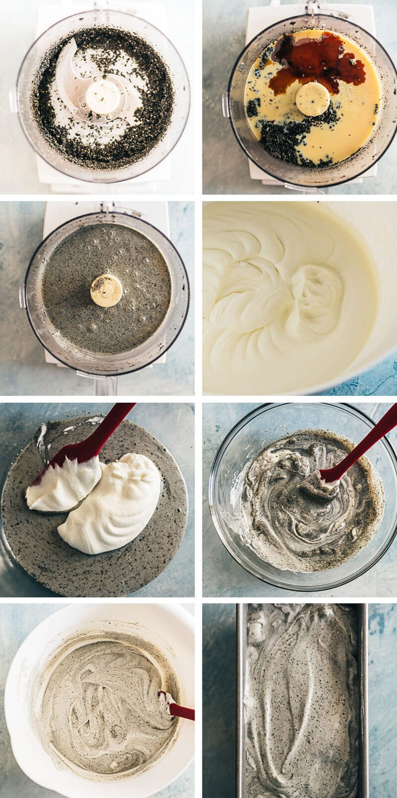 4-Ingredient No-Churn Black Sesame Ice Cream Cooking Process
