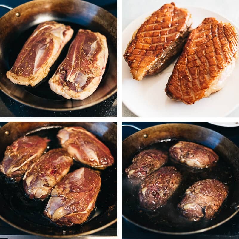 Crispy Chinese Duck Breast Cooking Process