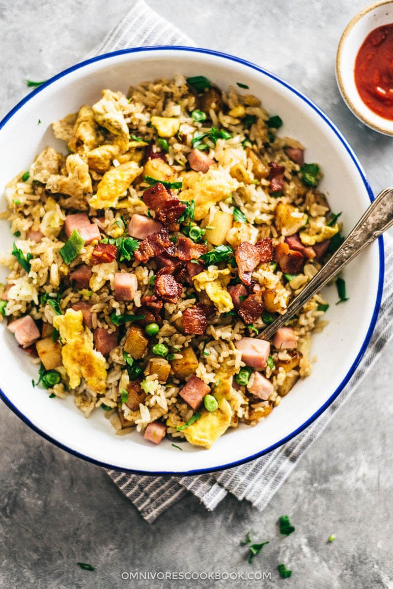 Potato Fried Rice | Easy | Potato | Recipes | Chinese | Asian | Healthy | With Egg | Ham | Pork | Bacon | Better Than Take Out | Simple | How to Make | Stir Fry