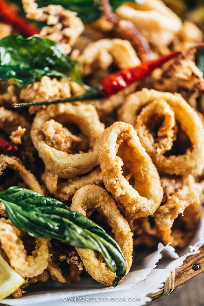 Salt and Pepper Squid   Calamari   Deep Fried   Asian   Chinese   Seafood   Appetizer   Restaurant Style   Basil   Recipe