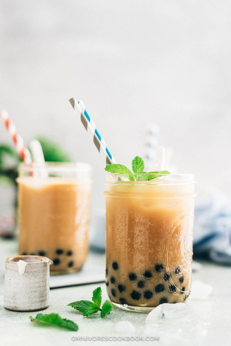 How to make boba milk tea recipe