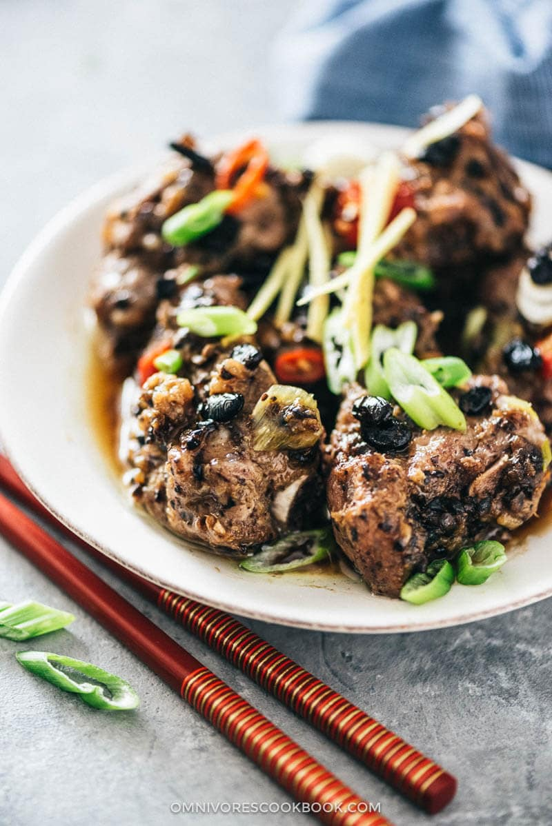 Steamed Ribs in Black Bean Sauce (豉汁蒸排骨) | Dim Sum | Chinese | Recipes | Steamed | Chinese New Year | Appetizer | Pork | Party | Easy | Homemade | Sauce | How to Make