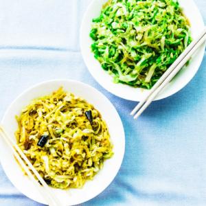 Cabbage Glass Noodles stir Fry | Chinese | Recipe | Vegan | Vegetarian | Gluten Free | Vermicelli | Vegetables | Green | Healthy