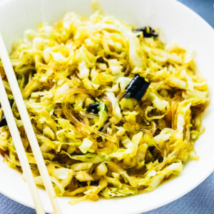 Cabbage Glass Noodles stir Fry | Chinese | Recipe | Vegan | Vegetarian | Gluten Free | Vermicelli | Vegetables | Green | Healthy