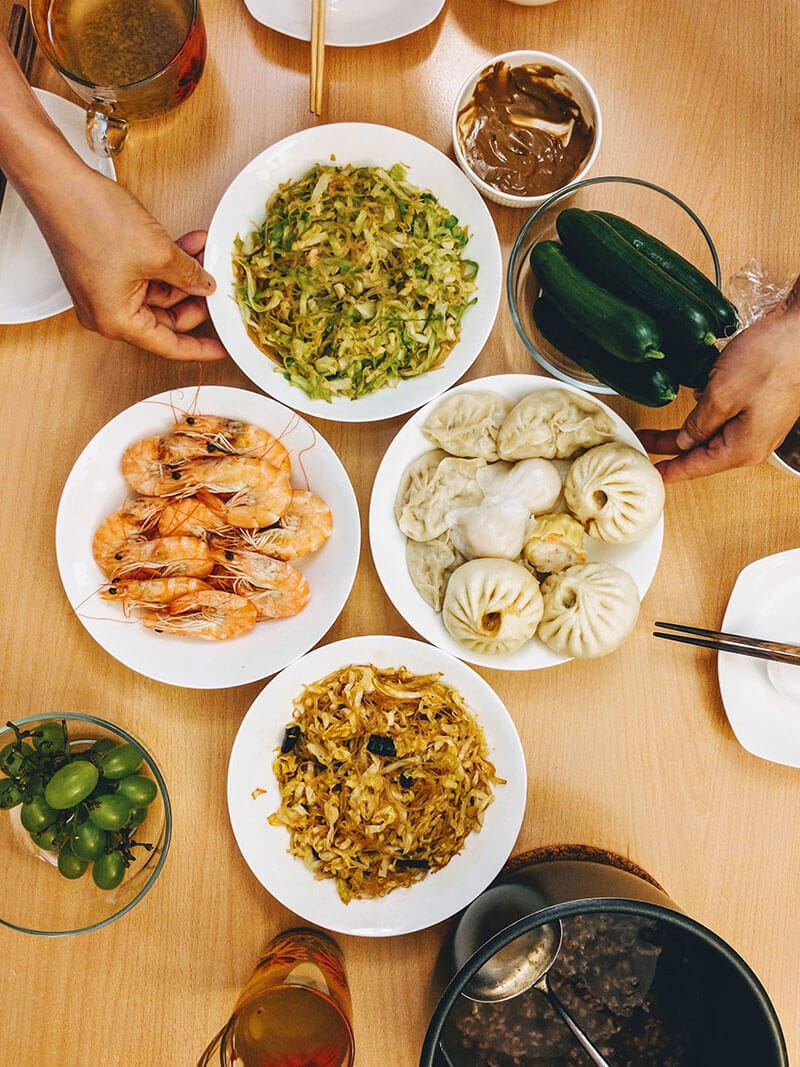 What We Eat in China - On our dinner table