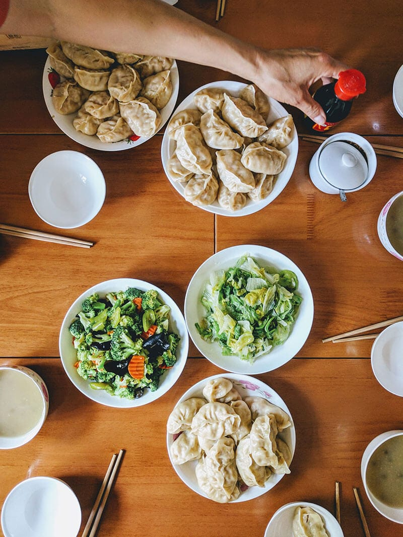 What We Eat in China - On our lunch table