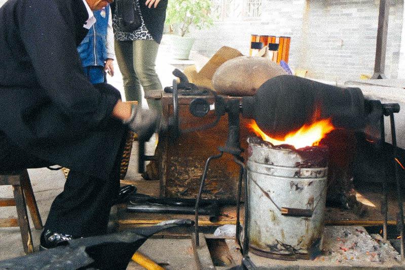 Old fashioned Popcorn Machine in China
