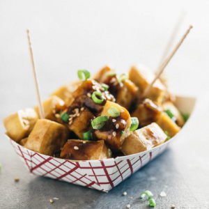 Crispy Tofu with Garlic Sauce (without Deep-Frying) | Chinese | recipes | vegan | vegetarian | gluten free | plant based | baked | healthy | easy | Asian