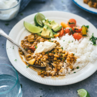 Easy Vegetarian Lentil Stew   recipes   gluten-free   vegan   curry   side dish   main dish  