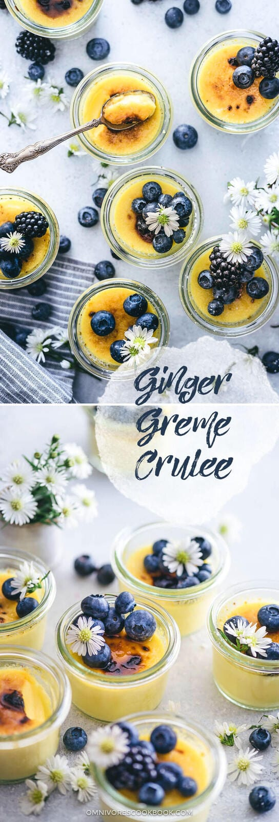Ginger Creme Brulee | Asian | Dessert | Sweets | Easy | Recipe | Healthy | Low Sugar