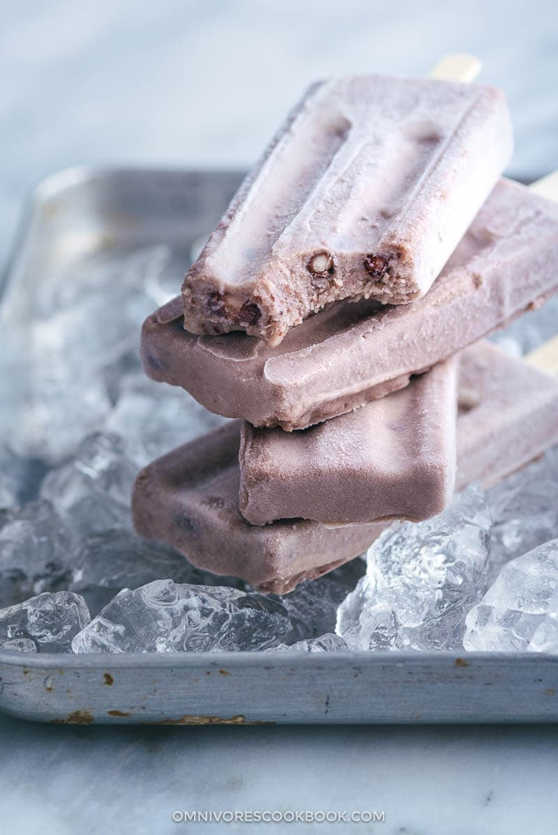 Creamy Red Bean Popsicles | Asian | Chinese | Sweets | Dessert | Healthy | Three Ingredient | Easy |