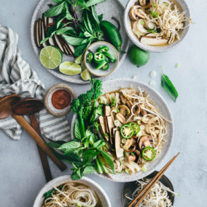Vegetarian Pho Noodle Soup | Gluten-Free | Vegetarian | Vegan | Vegetables | Vietnamese | Recipe | Asian