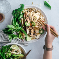 Vegetarian Pho Noodle Soup | Gluten-Free | Vegetarian | Vegan | Vegetables | Vietnamese | Recipe | Asian