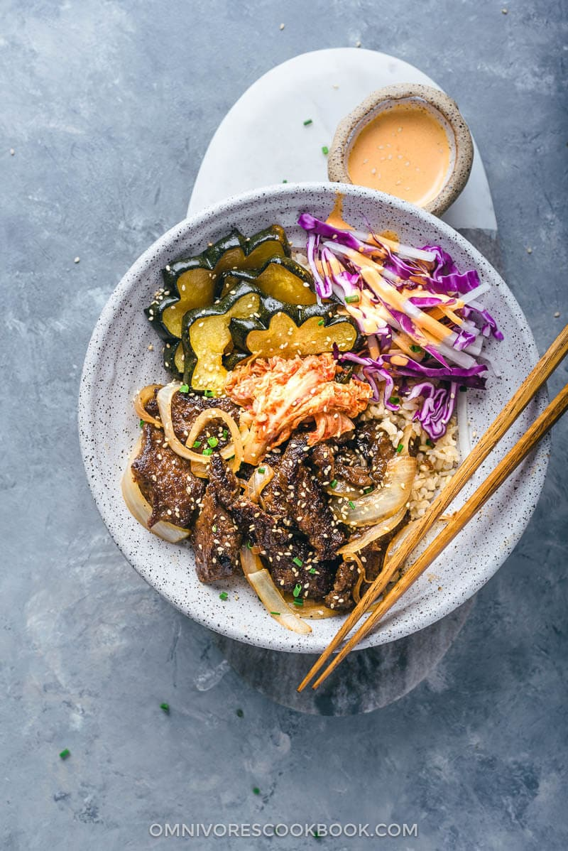Korean Beef Bulgogi Bowl Perfect For Meal Prep Omnivore S Cookbook