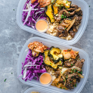 Korean Beef Bulgogi Bowl (Perfect for Meal-Prep) | Steak | Recipe | Fall | Acorn Squash | Coleslaw | Asian