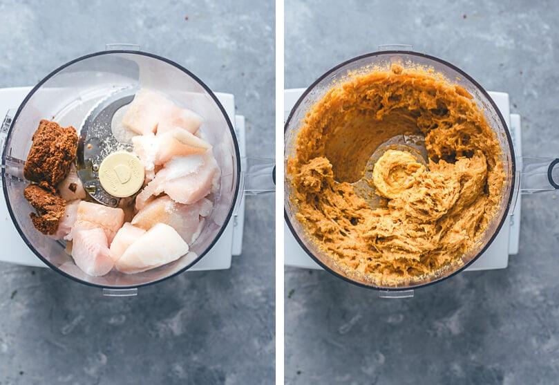Thai Fish Cakes (Tod Mun Pla) Cooking Process