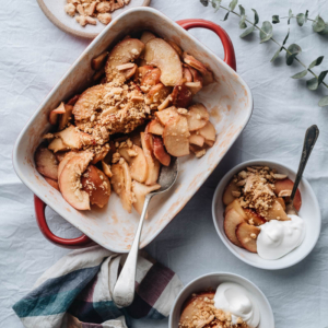 Gluten-free Apple Crumble (without oats) | Fall | Baking | Healthy | Topping | Crisp |