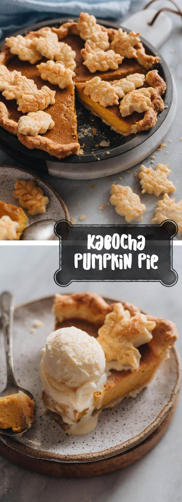 Kabocha Pumpkin Pie - This kabocha pumpkin pie recipe creates a lighter and fluffier version of the traditional pumpkin pie.