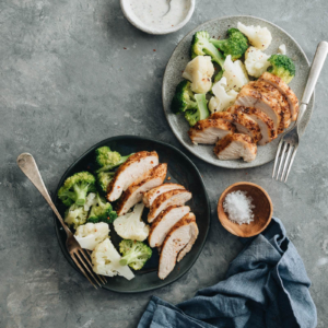 Tender, juicy chicken breast roasted with a rich, spicy dry rub. Only 30 minutes required, including prep and cooking. {Gluten-Free}