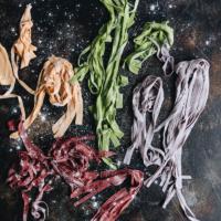 Rainbow Longevity Noodles Cooking Process