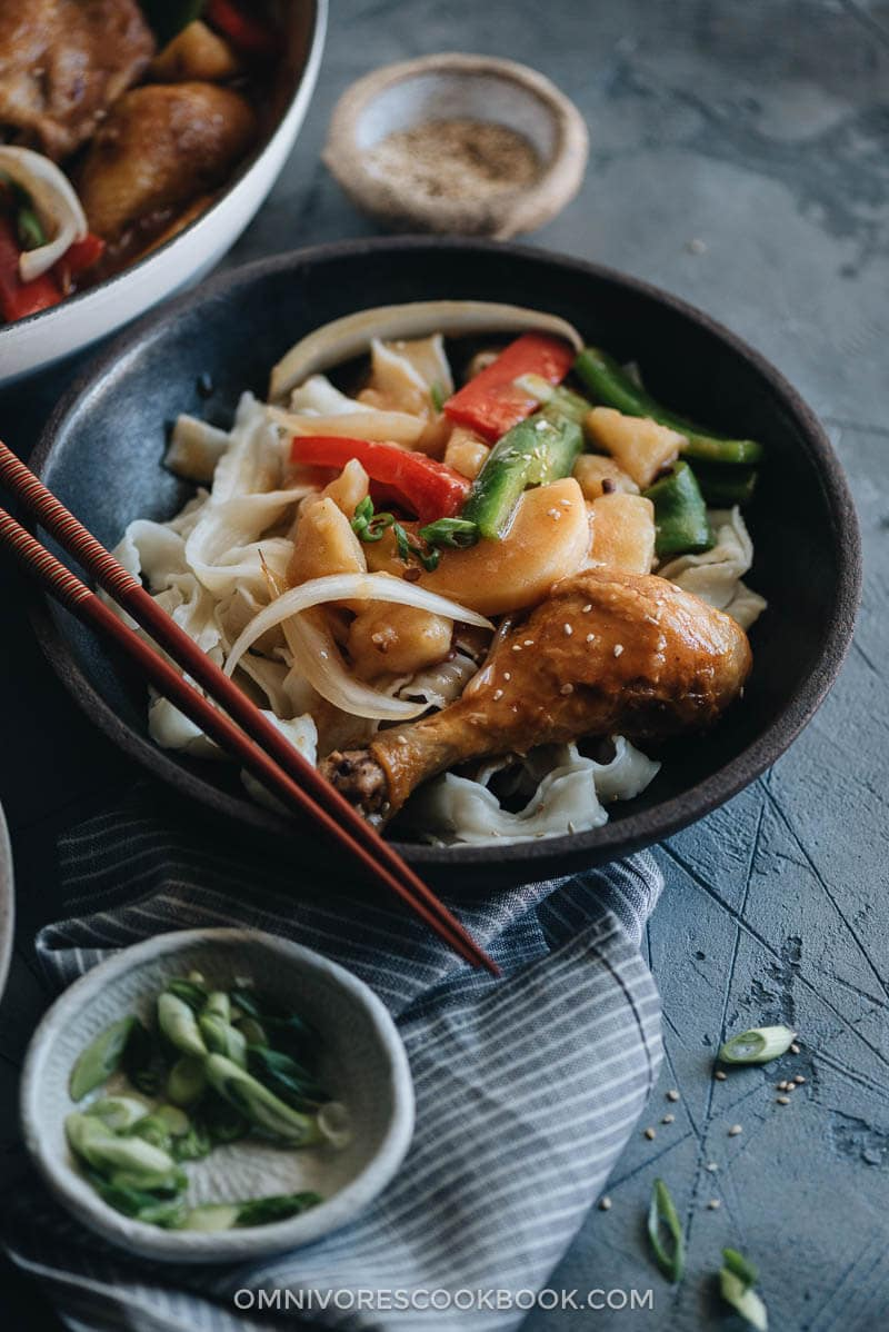 Da Pan Ji - A hearty chicken potato stew in a rich Chinese-style sauce served on top of noodles. It's one of those one-pot comfort recipes that you always crave.