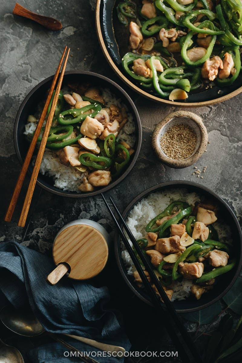 This Chinese Hunan chicken is quick and healthy - perfect for a one-bowl dinner.