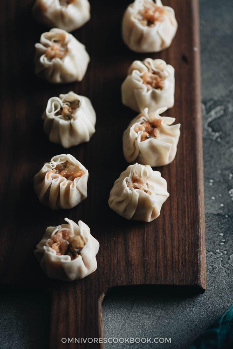 Pork and Shrimp Shumai Cooking Process
