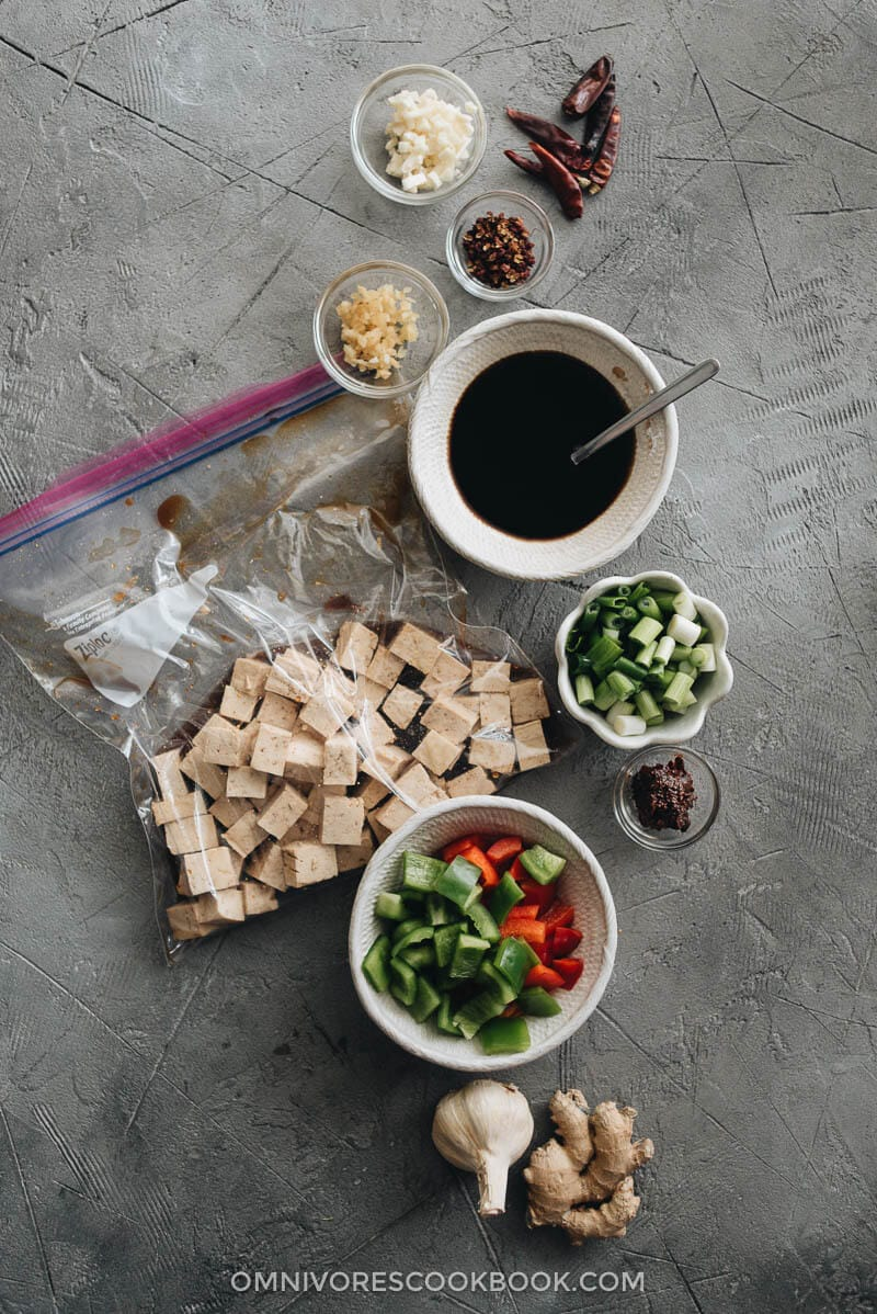 Kung Pao Tofu (宫爆豆腐) Cooking Process