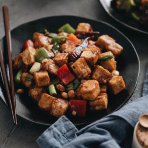 Real-Deal Kung Pao Tofu (宫爆豆腐) - The real-deal recipe that helps you create better-than-takeout kung pao tofu in your own kitchen. {vegetarian}