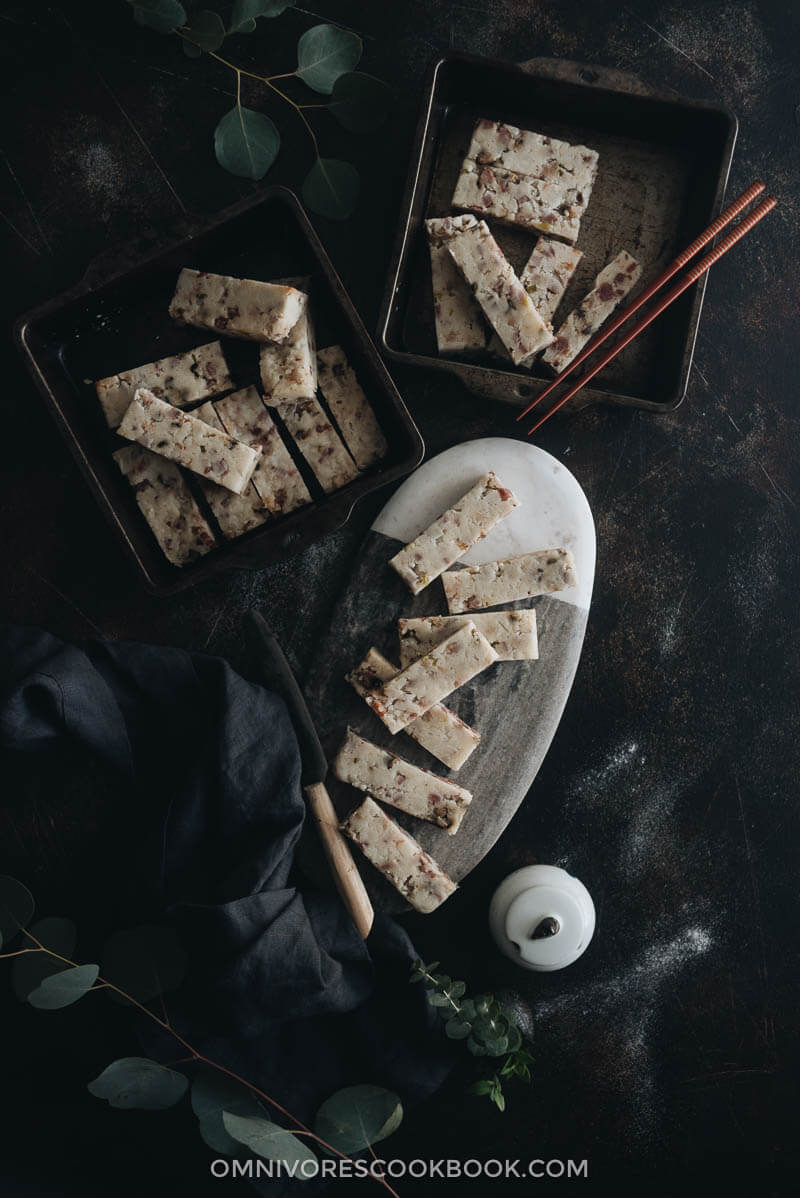 Chinese Turnip Cake Cooking Process