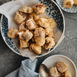 A lighter Asian-style banana fritter that is less calorie-dense and still satisfies your sweet tooth.
