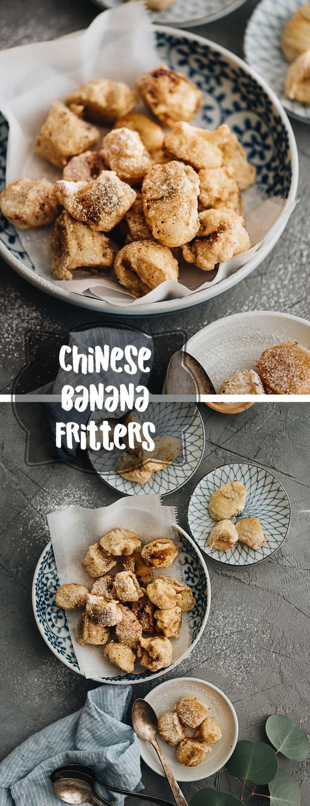 A lighter Asian-style banana fritter that is less calorie-dense and still satisfies your sweet tooth. {Vegan Adaptable}