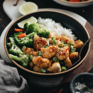 Thai Sweet Chili Chicken - An easy recipe that tastes even better than the takeout version, is fast to cook for your weekday dinner, and is healthier! {Gluten free adaptable}