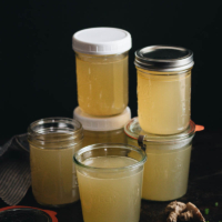 A few jars homemade chicken stock