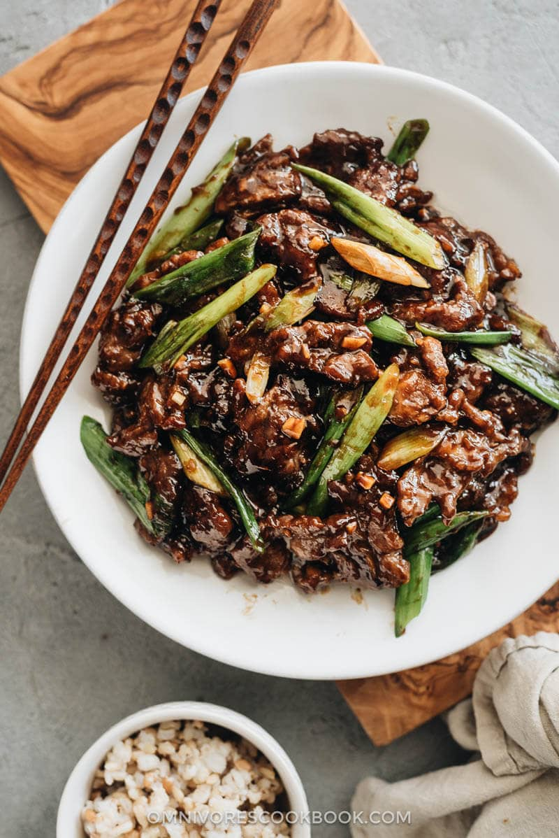 Mongolian Beef Without Using A Wok Omnivore S Cookbook