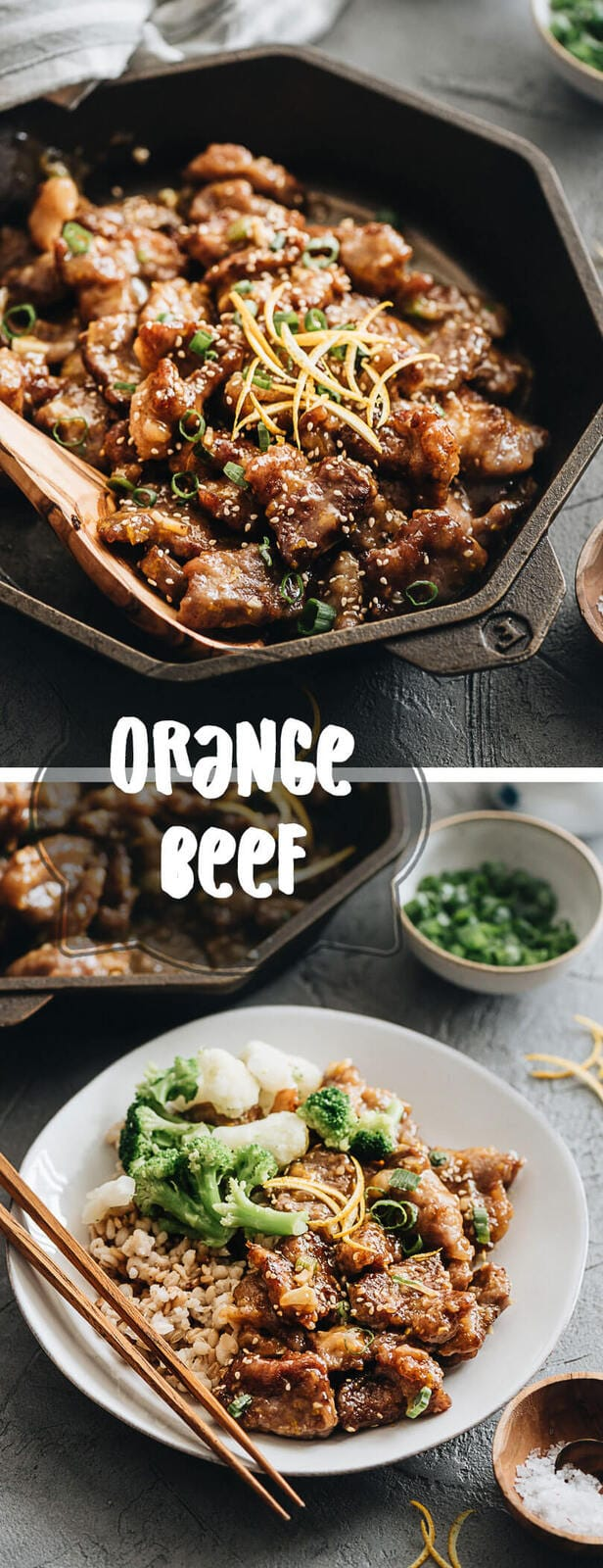 Create crispy, juicy, and tender restaurant-style orange beef using the cheapest cuts, and learn to make a super aromatic sauce that's tastier and healthier than takeout. #chinese #beef #recipes #glutenfree #takeout