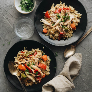 Asian Instant Pot chicken and rice