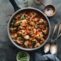 Restaurant style cashew chicken with pepper