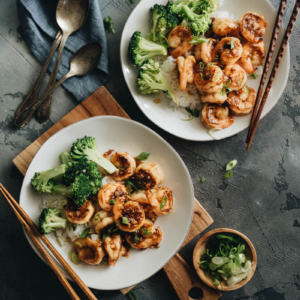 Restaurant style honey garlic shrimp